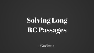 Solving Long RC Passages