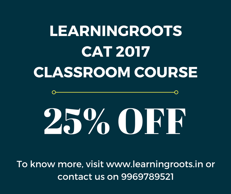 Learningroots CAT 2017 Classroom Programme Discount